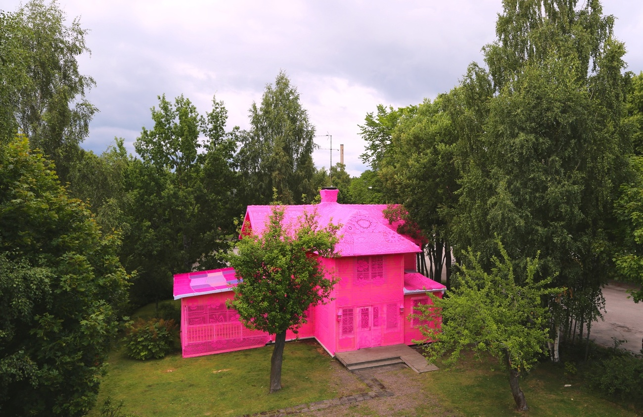 "OLEK ""Our Pink House"", 2016"