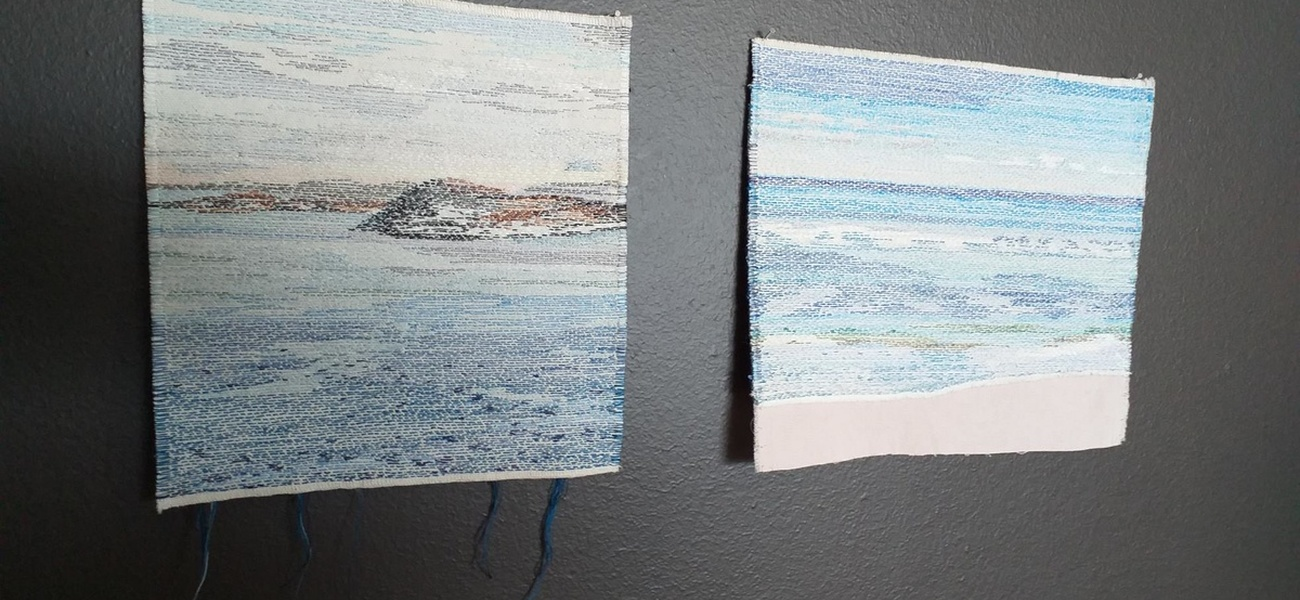 Ur serien Seascapes, 2019. Handbroderi.